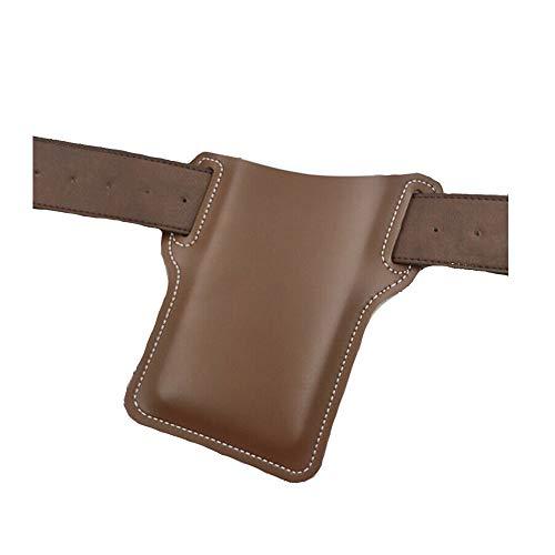 Retro Handy Ledertasche Gürteltasche, Handyträger Gürteltasche, Mode Pu Leder Taille Gürtelschlaufe Handy Schutzhülle Tasche Holster (kastanienbraun)