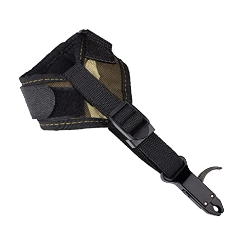 Elong Compound Bow Quick Shot Release Buckle Strap Black Trigger Caliper Shooting Left & Right Hand