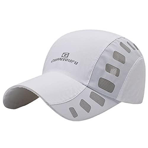Clape Kappe Cap Herren Mesh Basecap Atmungsaktive Weiche Sportkappe Lauf Cap Leichte Sonnenhut Schildkappe Plain UV-Schutz-Kappe Run Cap