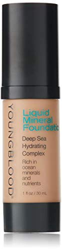 Youngblood Clean Luxury Cosmetics Liquid Mineral Foundation, Capri | Dewy Mineral Lightweight Full Coverage Makeup for Dry Skin Poreless Flawless Tinted Glow | Vegan, Cruelty Free, Gluten-Free