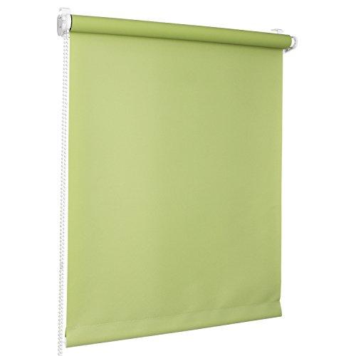 Rolmaxxx ROLLMAXXX Rollos Lichtdurchlässigrollo Fensterrollo Klemmfix ohne Bohren (130 x 150 cm, Grün)