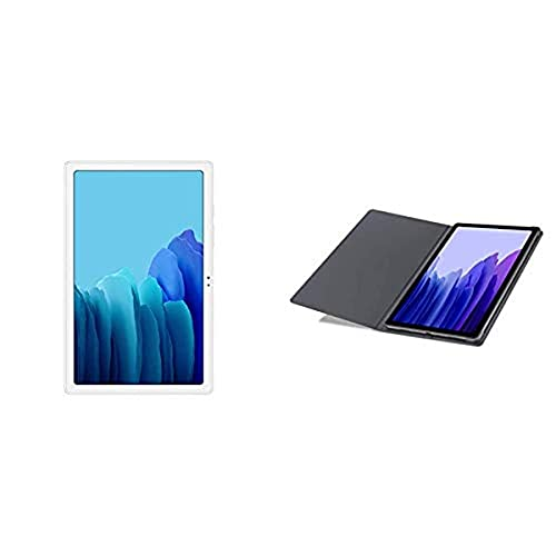 Samsung A7 Tablet 10.4 Wi-Fi 32GB Silver with Samsung Tab A7 Bookcover - Grey