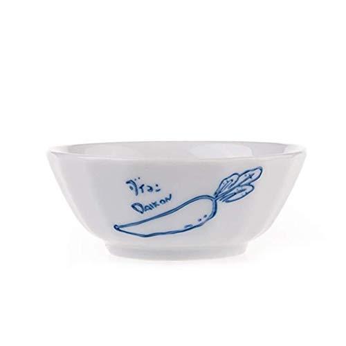 NJIUHB Bowl, in Europese stijl met de hand beschilderd Onderglazuur Keramiek + Household Kleine Kom Soep, Pickle Bowl, salade kaas Servies, Two Choices (3,9 * 1.5in) (Color : A)