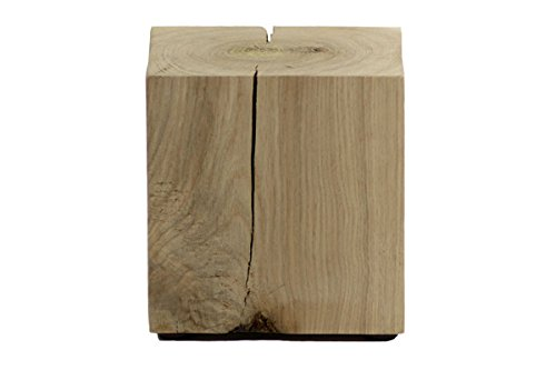 CreaTina Holzwürfel Hocker Eiche massiv in den Maßen ca. 15 x 15 x 15 cm