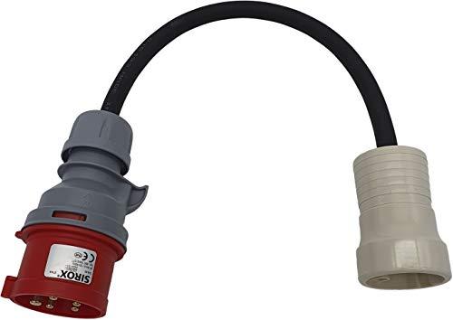 Adapter PCE CEE 16A Stecker auf Perilex Kupplung ca 0,5m Kabel Titanex H07RN-F5G2,5mm²