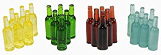 "NWFashion 24PCS 4Colors Mixed Miniature 1"" 12 Scale Wine Beer Bottle, Dollhouse.."