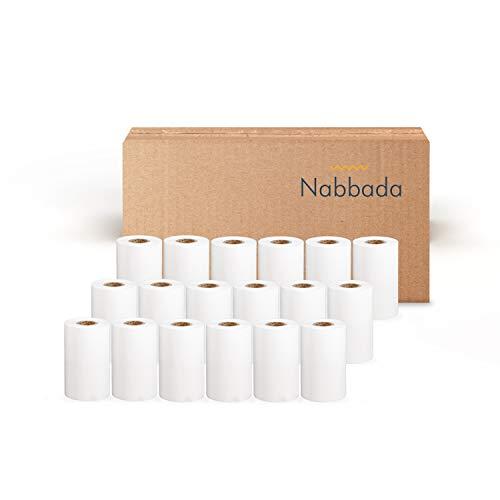 Nabbada - 60 Rollos de Papel Térmico 57x35x12 de 58 Gramos sin Bisfenol A ideales para Datáfono, Impresoras Térmicas, TPV y Cajas Registradoras