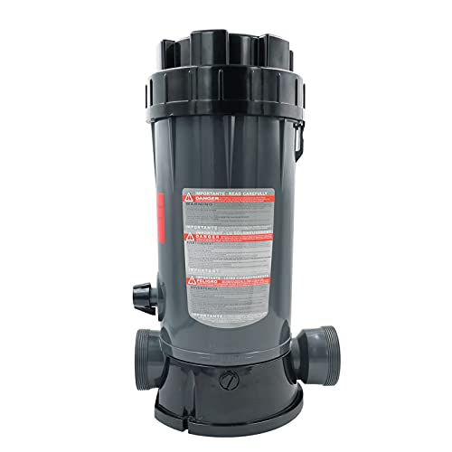 Upgraded CL200 in-line Automatic Chlorinator Feeder for Swimming Pool Ponds Garden Compatible With Hayward ,Economy In-Line Above-Ground Automatic Chlorine Bromine Feeder,Easy to Use,High-Grade ABS