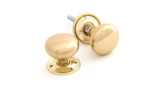 From The Anvil Mushroom Mortice/Rim Knob Set - Polished Brass, 83564