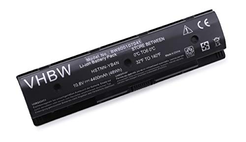 Batterie Li-ION vhbw 4400mAh (10.8V) pour Ordinateur Portable, Notebook HP Envy 14, 14 Touch, 14t, 14z, 15, 15 Touch, 15t, 15z, 17, 17 Leap Motion