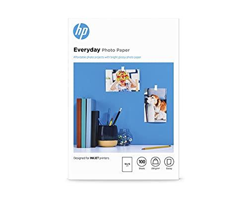 Papier photo HP Everyday, brillant, 200g/m2, 10x15cm, 100feuilles