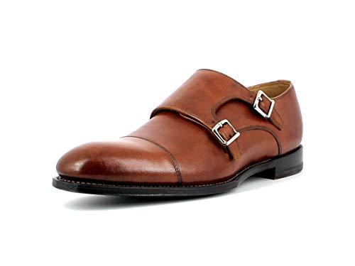 Gordon & Bros. Herren Halbschuhe KEN17 5536, Männer Monk, Halbschuhe Goodyear Welted 2 schließen elegant Business-Schuh büro,Cognac,41 EU / 7 UK