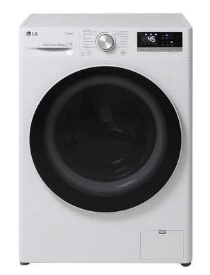 LG F4WV408S0 Waschmaschine, weiß/schwarz
