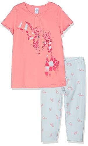 Sanetta Mädchen Pyjama Zweiteiliger Schlafanzug Multiway Schlafanzug, Rot (Coral Light 3937), 116