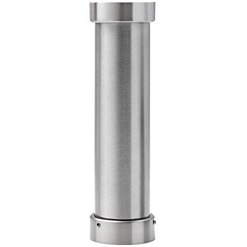 Bar-Konsole ELBA gerade | ø 50 mm | Edelstahl | Höhe: 216 mm | inkl. Glasbefestigungsplatte | 1 Stück