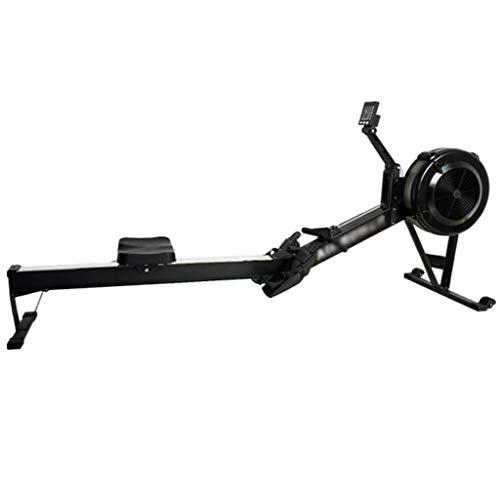 XYF Máquinas De Remo para Fitness Rowing Machine con Visualización De Datos Equipo De Fitness Deportivo Multifuncional Ganancia Muscular Puede Soportar 150 Kg (Color : Black, Size : 235 * 36 * 63cm)