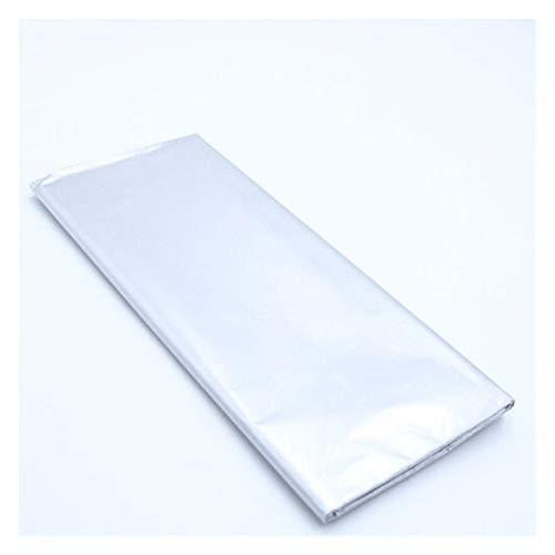 10 hojas de papel de seda impreso de 20 x 66 pulgadas, para manualidades, papel de regalo de boda y fiesta, decoración del hogar, papel origami, scrapbook (color: plata)