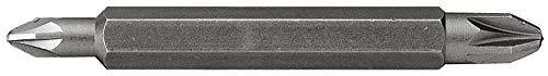 Stanley 6-hoekige bits Phillips (1/4 inch, dubbelzijdig, Phillippunt nr. 1 en 2, 60 mm lengte) 10 stuks, 1-68-784