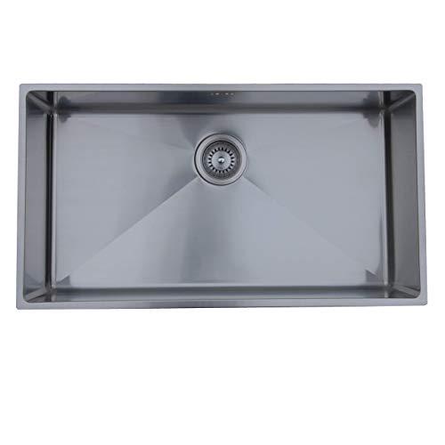 Ukinox RS838 Modern Undermount Single Bowl Stainless Steel Kitchen Sink