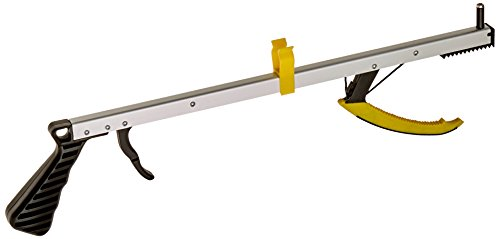 """Sammons Preston 75980 Feather Reach Reacher Aid, Lightweight 32"""" Grabber Tool with Magnet, 8 oz. Magnetic Picker Up Tool and Reaching Claw, Aluminum Trash Pickup Aid & Lightbulb Remover, Garden Nabber"""