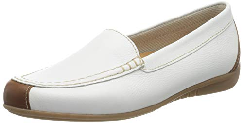 Gabor Shoes Damen Casual Slipper, Weiß (Weiss/Peanut 21), 40 EU