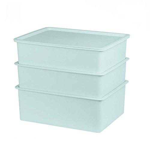 Coffrets de maquillage sous-vêtement boîte de Rangement Ménage Couvert en Plastique Boîte de Finition Soutien-Gorge sous-vêtements Chaussette Rangement Boîte de Rangement (Couleur : Bleu)