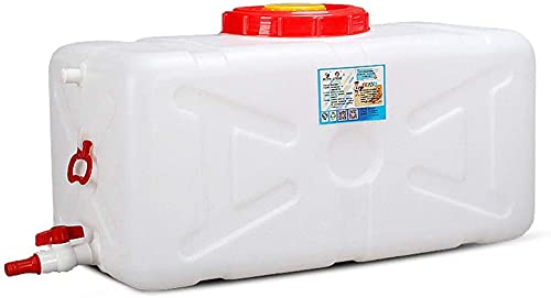 WXking Tanque de Almacenamiento de Agua de plástico, contenedor de Almacenamiento de Agua para el hogar de Gran Capacidad, Cubo Rectangular al Aire Libre portátil con válvula (Size : 145L)