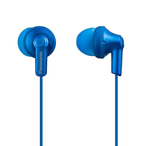 Panasonic ErgoFit in-Ear Earbud Headphones RP-HJE120-AA (Metallic Blue) Dynamic Crystal-Clear Sound, Ergonomic Comfort-Fit