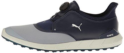 Puma Men's Ignite Spikeless Sport Disc Golf-Shoes, Quarry-Peacoat, 9.5 Medium US