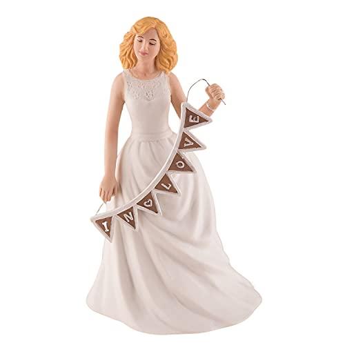 Weddingstar Shabby Chic Bride Porcelain Figurine Wedding Cake Topper with...