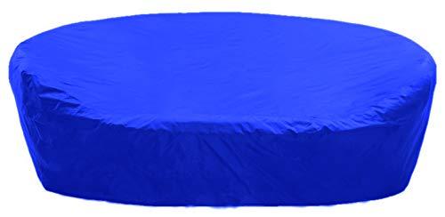 KaufPirat Premium Abdeckplane Sonneninsel Rund Ø 190x85 cm Blau Gartenmöbel Gartentisch Abdeckung Schutzhülle Abdeckhaube Outdoor Round Patio Table Cover