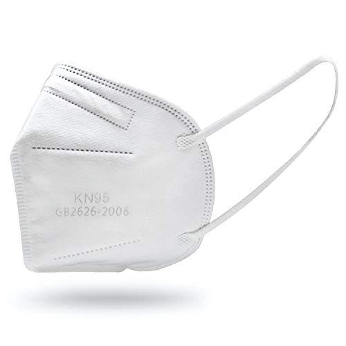 10x KN95 Atemschutzmasken mit 5-Lagen Filtersystem – Gesichtsmaske mit Nasenbügel als Mundschutz und Nasenbedeckung, angenehm weiches Material & komfortable Passform
