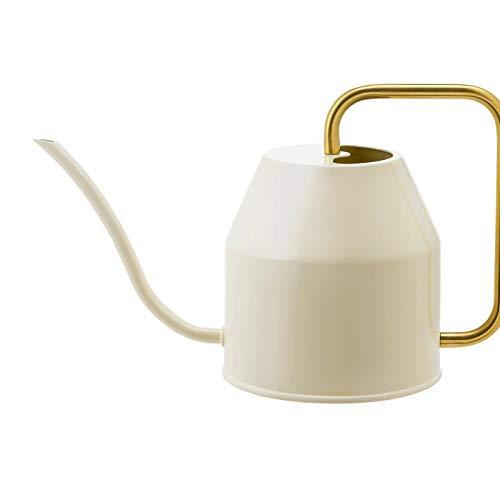My- Stylo Collection Gießkanne, elfenbein, goldfarben, 0,9 Liter, funktional und dekorativ, Produktgröße Höhe: 16 cm, Volumen: 0,9 Liter