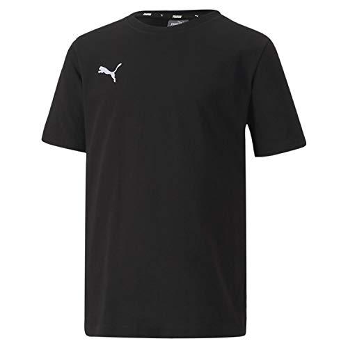 PUMA Jungen teamGOAL 23 Casuals Tee Jr T-shirt, Black, 176