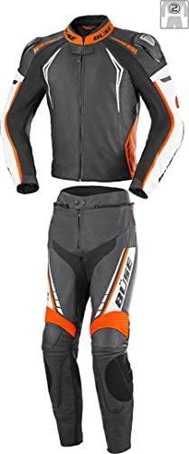 Büse Silverstone Pro 2-Teiler Damen Motorrad Lederkombi Schwarz/Weiß/Orange 40