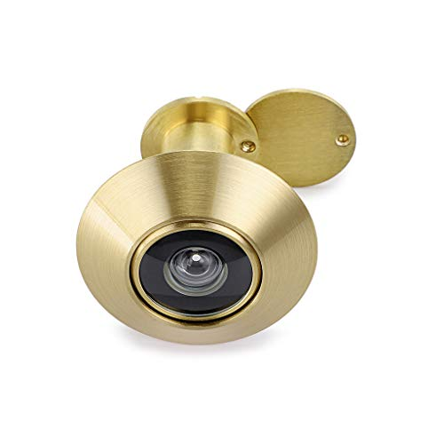 "Sumnacon Anti-Prying Brass 220-degree Door Viewer - Solid Door Peephole Viewer with Heavy Duty Rotating Privacy Cover for 1.26"" to 2.16"" Door, Durable Door-viewer for Home Office Hotel, Golden"