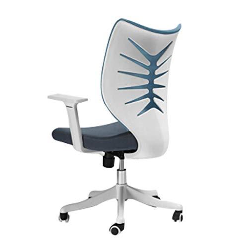 Huocilin Computerstoel, bureaustoel, kantelbaar, voor huis, draaibaar, vissen, boten, rug, hoge stoel, studentenstoel
