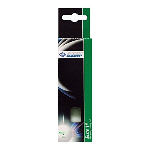 Donic-Schildkröt Pelotas de Tenis de Mesa 1 Estrella Elite, Calidad Poly 40+, 3 Piezas en Caja, Blanco, 608310