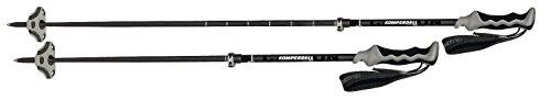 Komperdell 1842327-02 verstellbare Touren Skistöcke Carbon Pure Vario Black - 105-135 cm