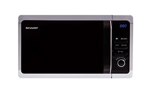 Sharp Home Appliances R-243S Encimera Solo - Microondas (Encimera, Solo microondas, 20 L, 800 W, Botones, Giratorio, Plata)