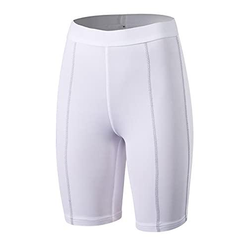 Huntrly Pantalones Cortos para Mujer Gimnasio Entrenamiento Ajustado Deportes Fitness Pantalones Cortos de Yoga Versátil Pantalones Cortos elásticos de Secado rápido XXL