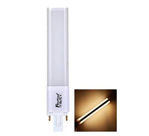 FExYinz MEHRWEG 2 Jahre Abstrahlwinke 6,5 Zolll 360 Grad Garantie G23 LED-Lampe 6 Watt Warmweiß 3000K 600 Lumen Ra 85 PL Lampe Kompakte LED-Lampe G23 LED Leuchtstoffröhre