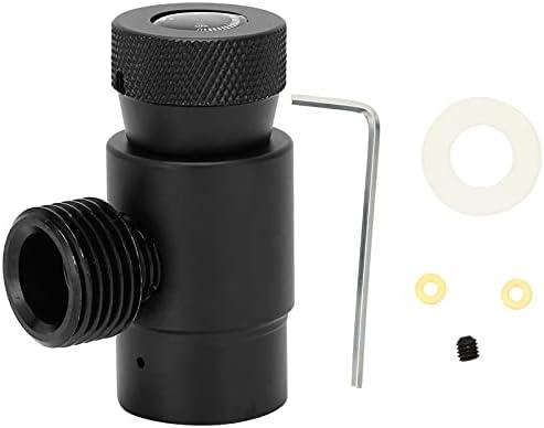 Ladieshow Soda Cilinder CO2 Vullen Adapter Klep Aluminium ASA met CGA320 Connector Zwart Gemakkelijk te gebruiken
