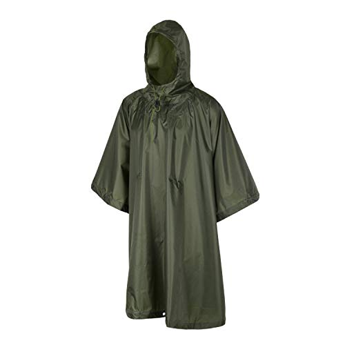 HELIKON ARMY STYLE PONCHO OD GREEN WATERPROOF IDEAL FOR CAMPING AIRSOFT FISHING