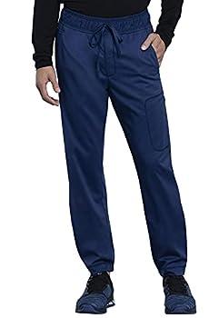 Cherokee Workwear Revolution Men Scrubs Pant Natural Rise Jogger WW012 L Navy