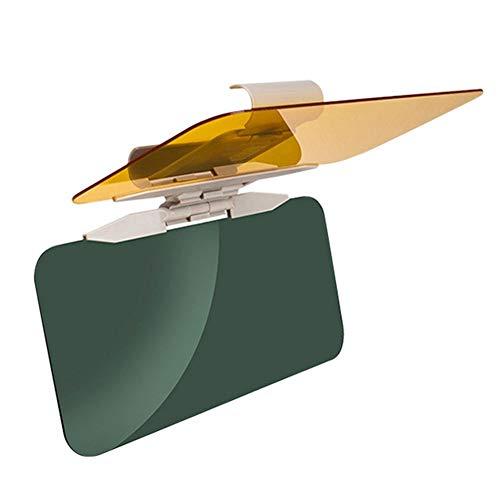 ADFIOADFH 2 IN1 Coche Sun Visera Anti-Sunlight Dazzling Coche Goggle Día Noche Visión Noche Visión Conducción Espejo Plegable Flip Down Clear View Mirror (Color : Brown)