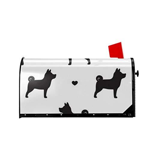 Sunny R Willkommen Briefkasten Abdeckungen Französisch Bulldogge Herz Magnetisch Verpackt Briefkasten Briefkasten Abdeckung für Garten Hof Dekor 21x18 Zoll