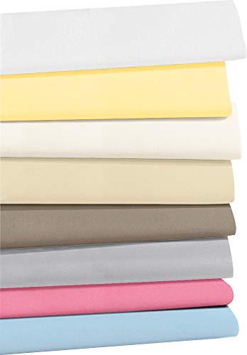 REDBEST Jersey- Stretch Baby- Spannbettlaken San Francisco 100{cb76dc5f95ad81787482deb28402450387f02fa58c6db176821fffe592d7a265} Baumwolle weiß Größe 40x90 cm oval- weiche Qualität, bügelfrei, Rundumgummi, bis 6 cm Höhe (weitere Größe + Farben)
