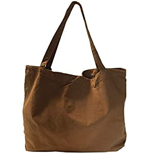 DIAFELIZ トートバッグ キャンバス 大容量 レディース メンズ 帆布 マザーズバッグ 大きめ トートバック YKKファスナー ポケットx4個 マグネットボタン付き レディース