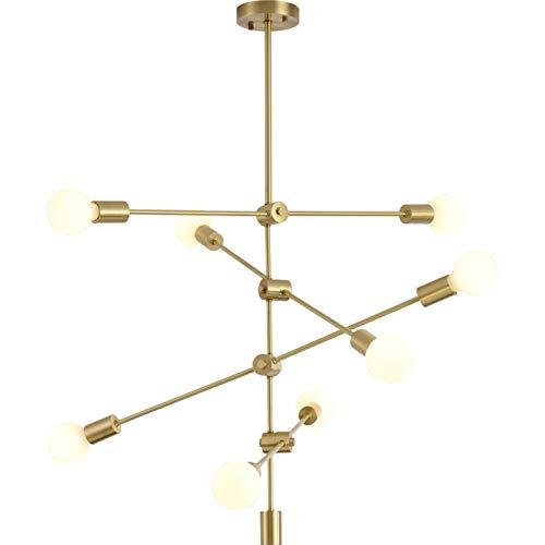 SVHK 8-Light Molecular ARCHANTELIER CABILLO LUZ CARTANDO Moderna Simplicidad Light 35'para Oficina, Sala de conferencias, Corredor, Dormitorio, Restaurante E27